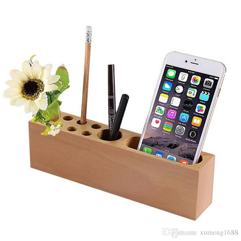 2018 Wood Pencil Stand Holder For Desk Business Card