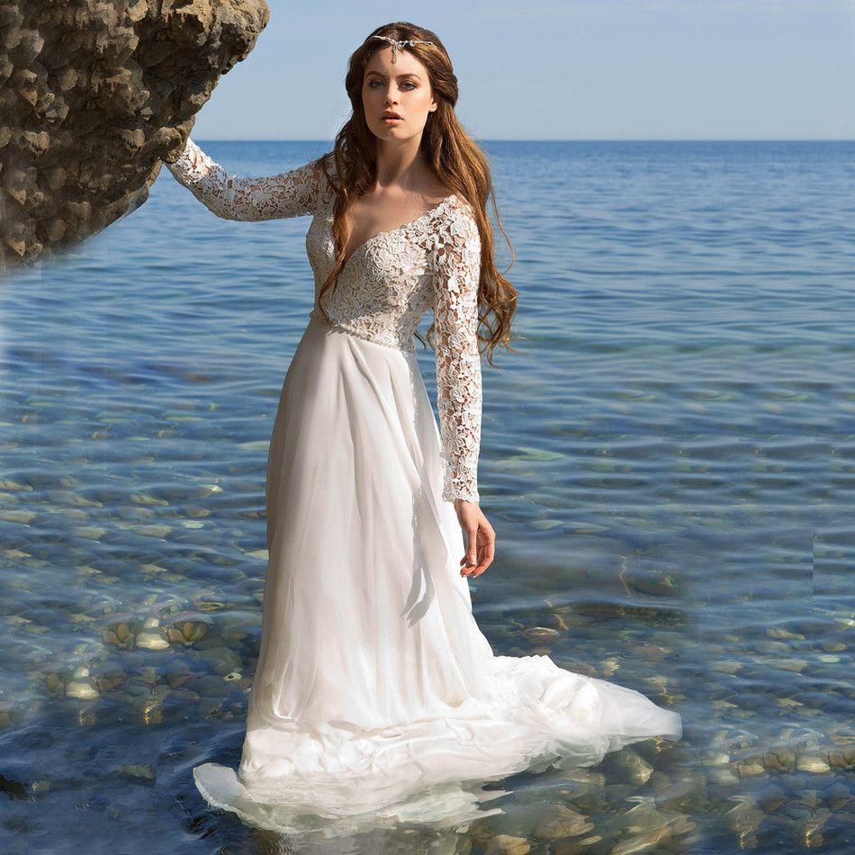 Discount Vestido De Noiva Simple Beach Wedding Dresses ...