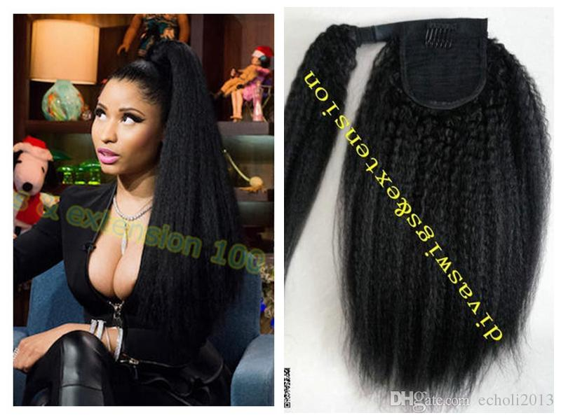 Dora Dora Wrap Drawstring Human Hair Ponytail Extensions