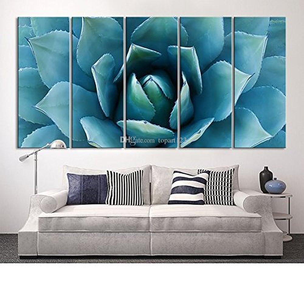 large wall art blue