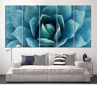 2018 Large Wall Art Blue Agave Canvas Prints Agave Flower ...