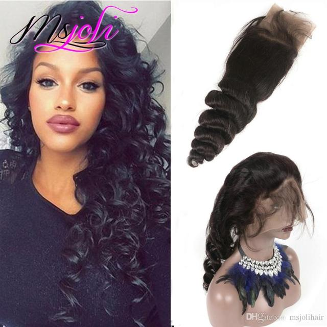 virgin hair human hair weave 360 lace frontal unprocessed malaysian hair pre plucked loose wave free part new fashion 8 to 22 inches