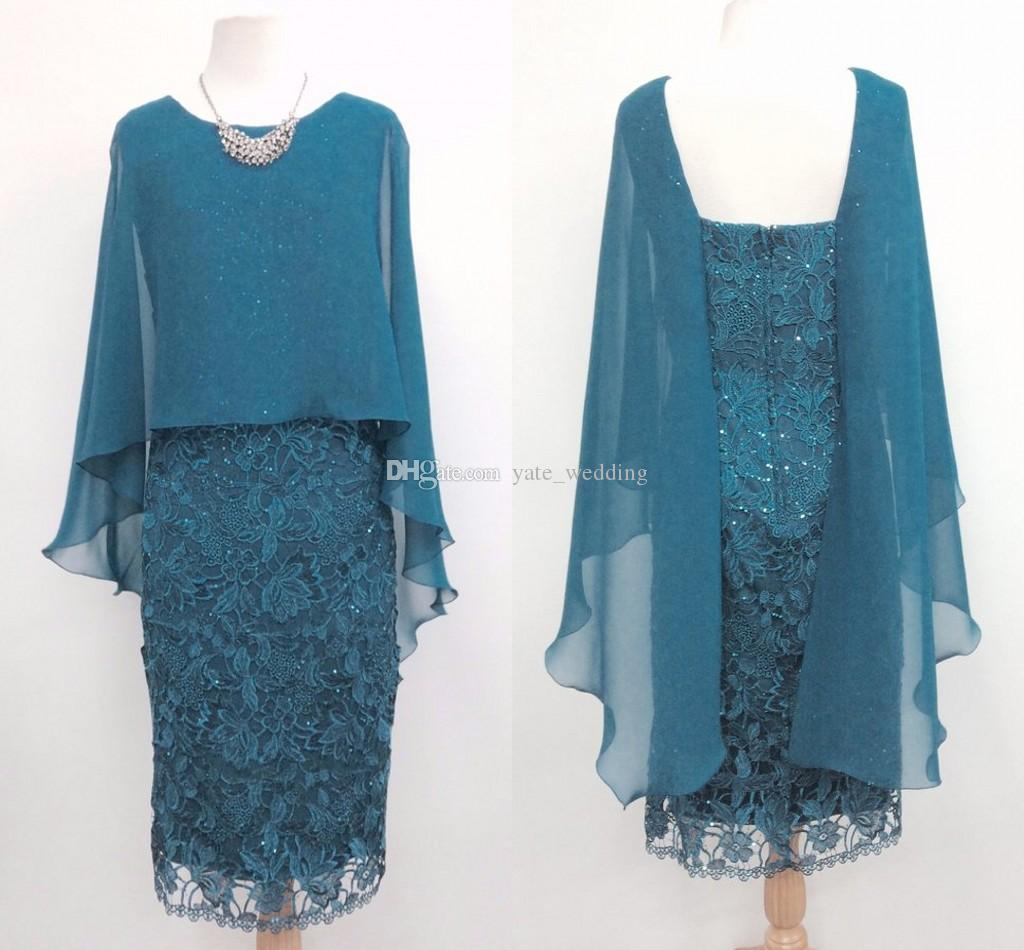 Sequins Lace Short Mother Of The Bride Dresses Chiffon