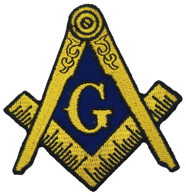 2019 Hot Masonic Logo Patch Embroidered Iron