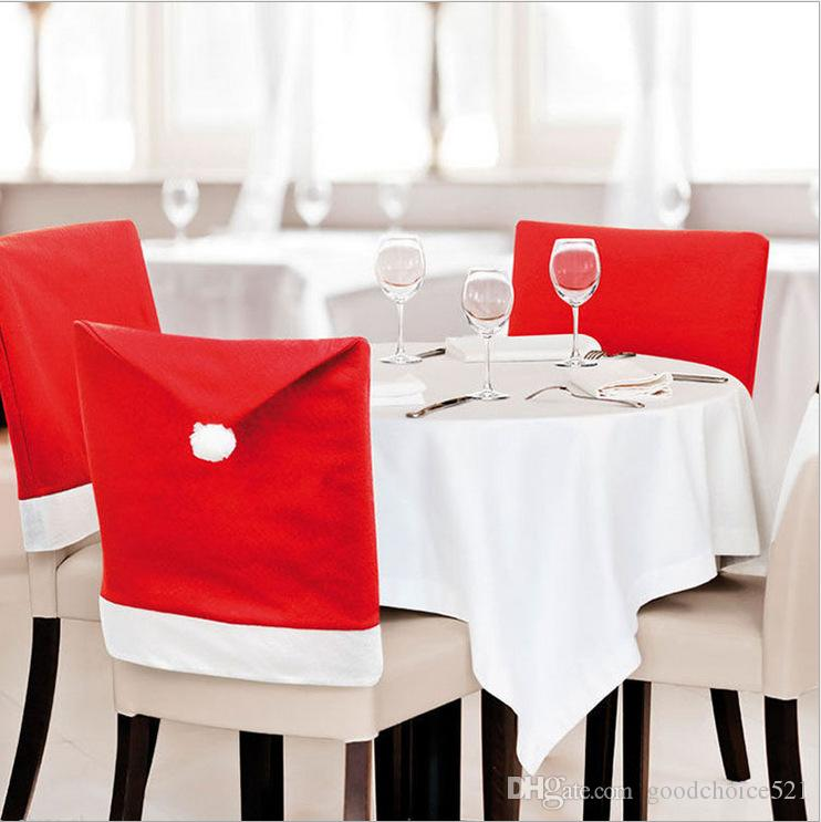 luxury christmas chair covers guitar chairs and stools santa claus dinner cap sets xmas decorations home party holiday festive back cover