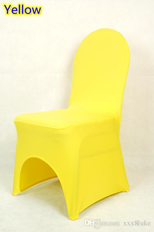 yellow chair covers target folding chairs black colour lycra universal cover for wedding decoration spandex on sale banquet arch front open dining room seat