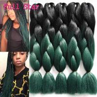 24 Inch 100g Crochet Braiding Hair 24 100g Black Teal ...