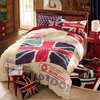 Wholesale Bedding Set London British Flag Flat Sheet Duvet