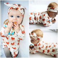 Newborn Baby Girls Pajamas Fox Girl Dress Toddler Outfit ...