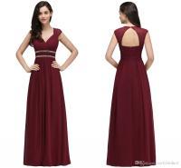 2018 Burgundy New Designer Bridesmaid Dresses Long Cap ...