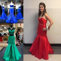 Red 2 Piece Mermaid Prom Dress_Prom Dresses_dressesss
