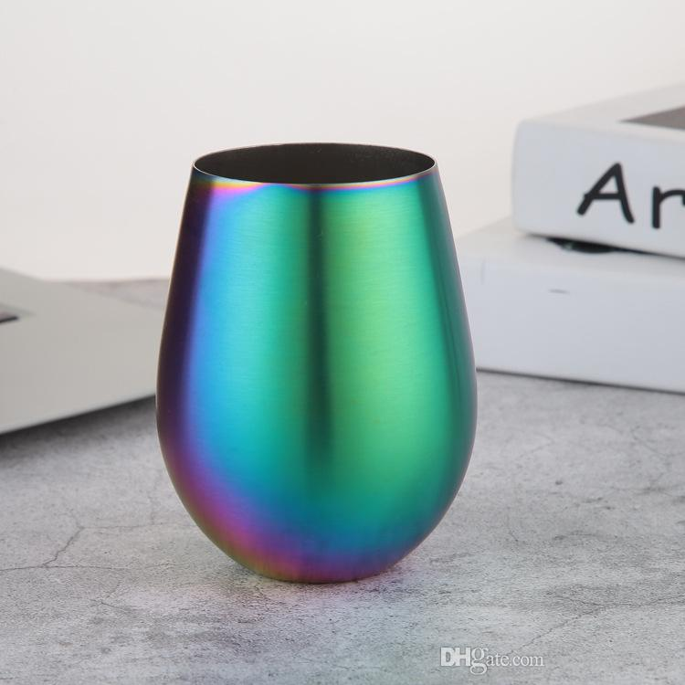 2018 Rainbow Mugs Egg Cup Wine Glasses 304 Stainless Steel