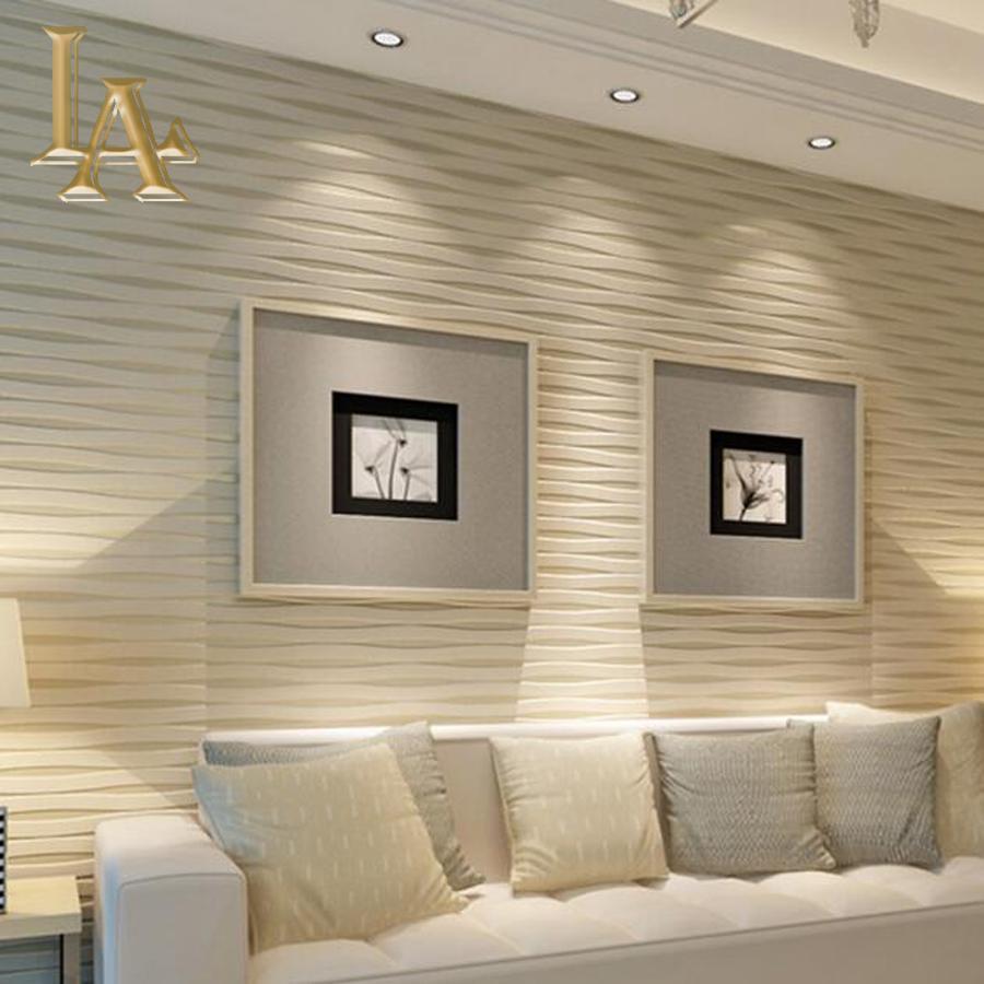 wall paper for living room trendy colours 2018 wholesale modern beige horizontal striped wallpaper 3d cheap clocks best pompom