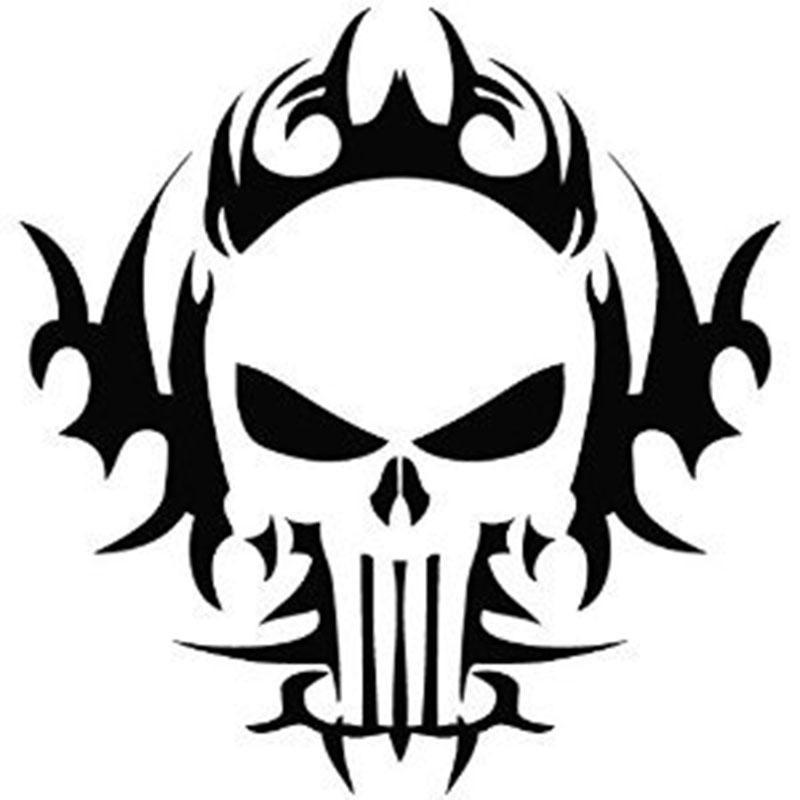 Compre Calcomanías De Coches Punisher Skull Motocicleta De