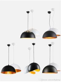 1 Light Small Modern Industrial Pendant Lamps Black Mini ...