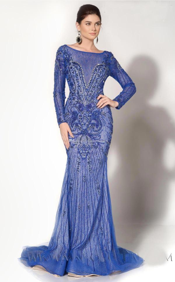 Design 2017 Mermaid Blue Lace Prom Dresses Ruffles