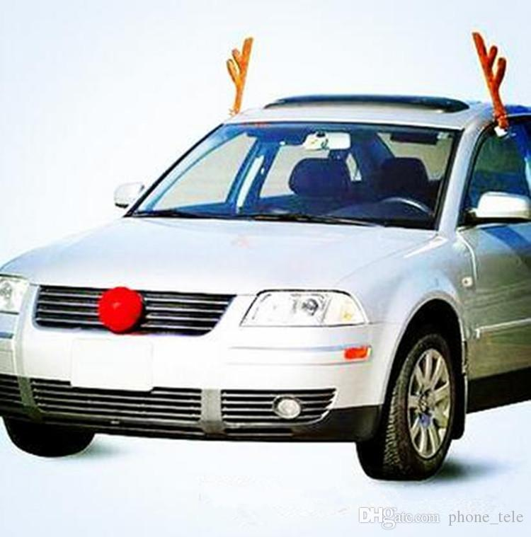 Rudolph Antlers And Nose For Car
