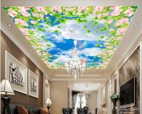 3d Ceiling Murals Wallpaper Custom Mural The Sky Clouds Of ...