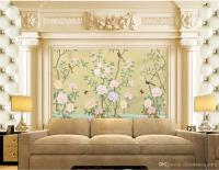 Classic Home Decor European Flowers And Birds Building ...