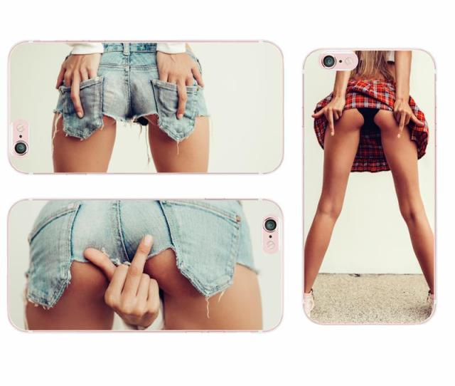 Cool Sexy Ass Girl Fashion Soft Transprent Tpu Phone Case For Iphone 7plus S 6plus 5se Samsung S8 S9p Camo Cell Phone Cases Cell Phones Covers From