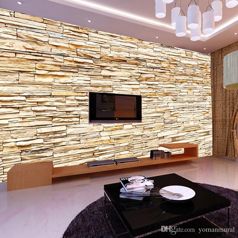 3d Brick Wallpaper Philippines Non Woven Fashion 3d Stone Bricks Wallpaper Mural For