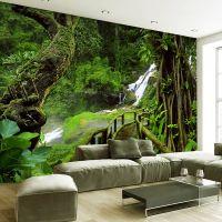 Custom Wallpaper Murals 3d Hd Nature Green Forest Trees ...