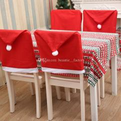 Christmas Chair Covers White Unusual Accent Red Santa Hat Cover Home Xmas Party Dinner Table Decorations Gift New Furniture For Couches Slip On From