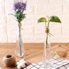 Living Room Flower Vases Leather Sets Creative Transparent Glass Vase Modern Fashion Hydroponic Decoration Simple Style Bottle Cheap
