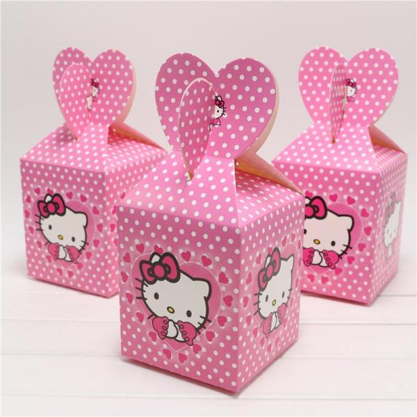 Cute Cartoon Kitty Candy Box Decor Baby