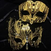 Black and Gold Masquerade Mask   Dress images