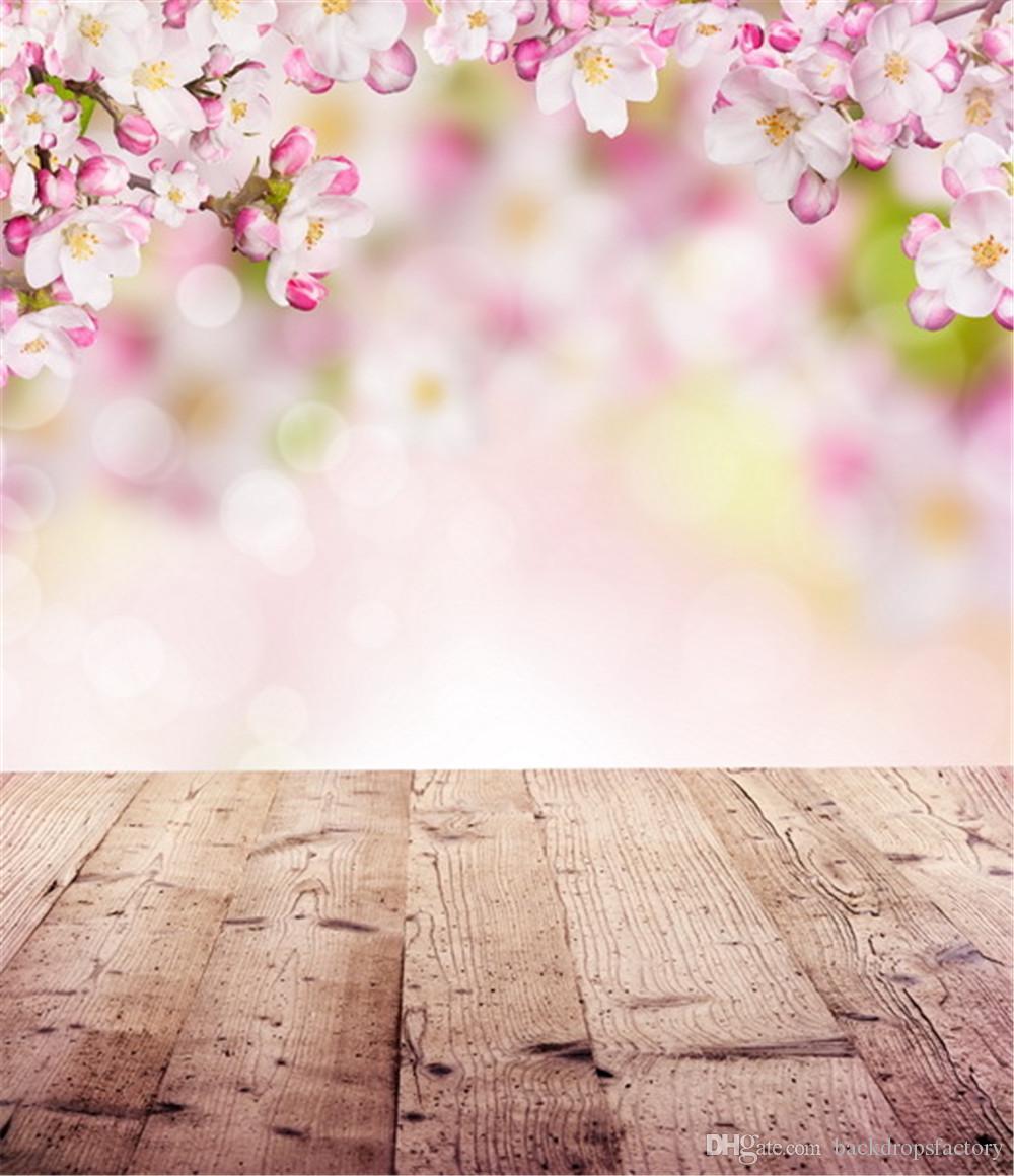 Grohandel Neugeborenes Babyparty Hintergrund Frhlings Blumen Blten Rosa Fotografie Backdrops