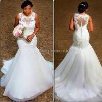 2018 Gorgeous Mermaid African Wedding Dresses Appliques ...