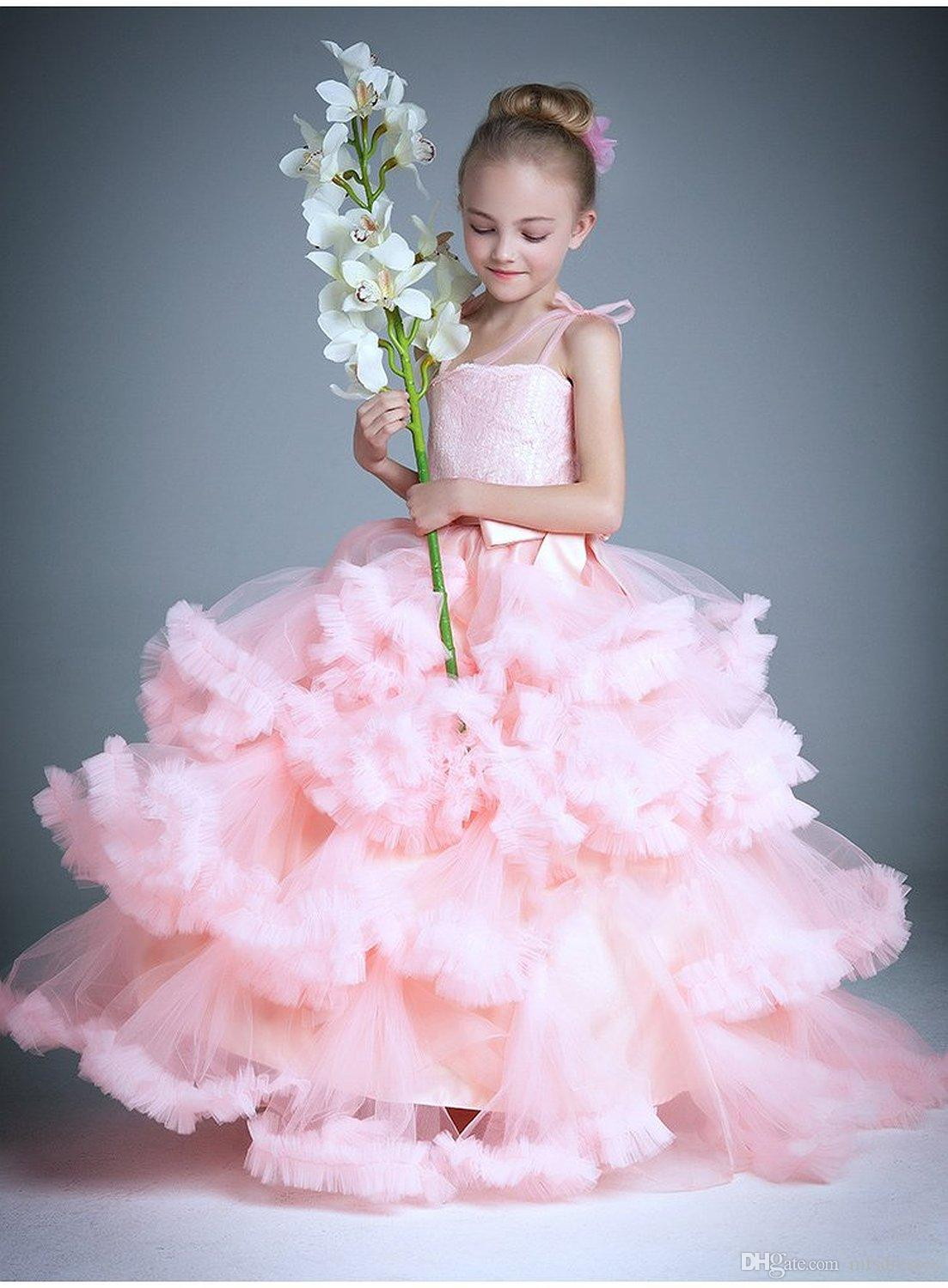 Cloud Little Flower Girls Dresses for Weddings Baby Party