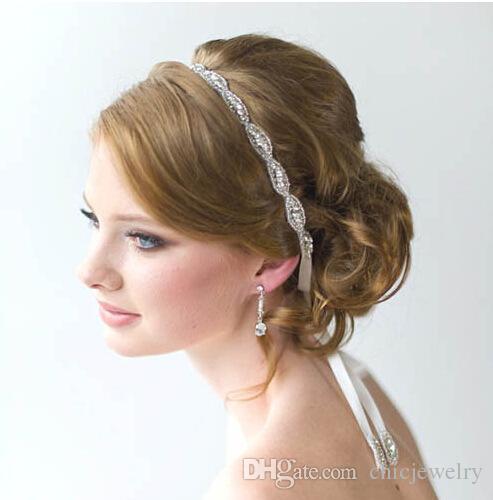2019 new wedding hair jewelry wedding romantic crystal rhinestone headband bride high quality beads hair jewelry bridal vintage hair accessories from