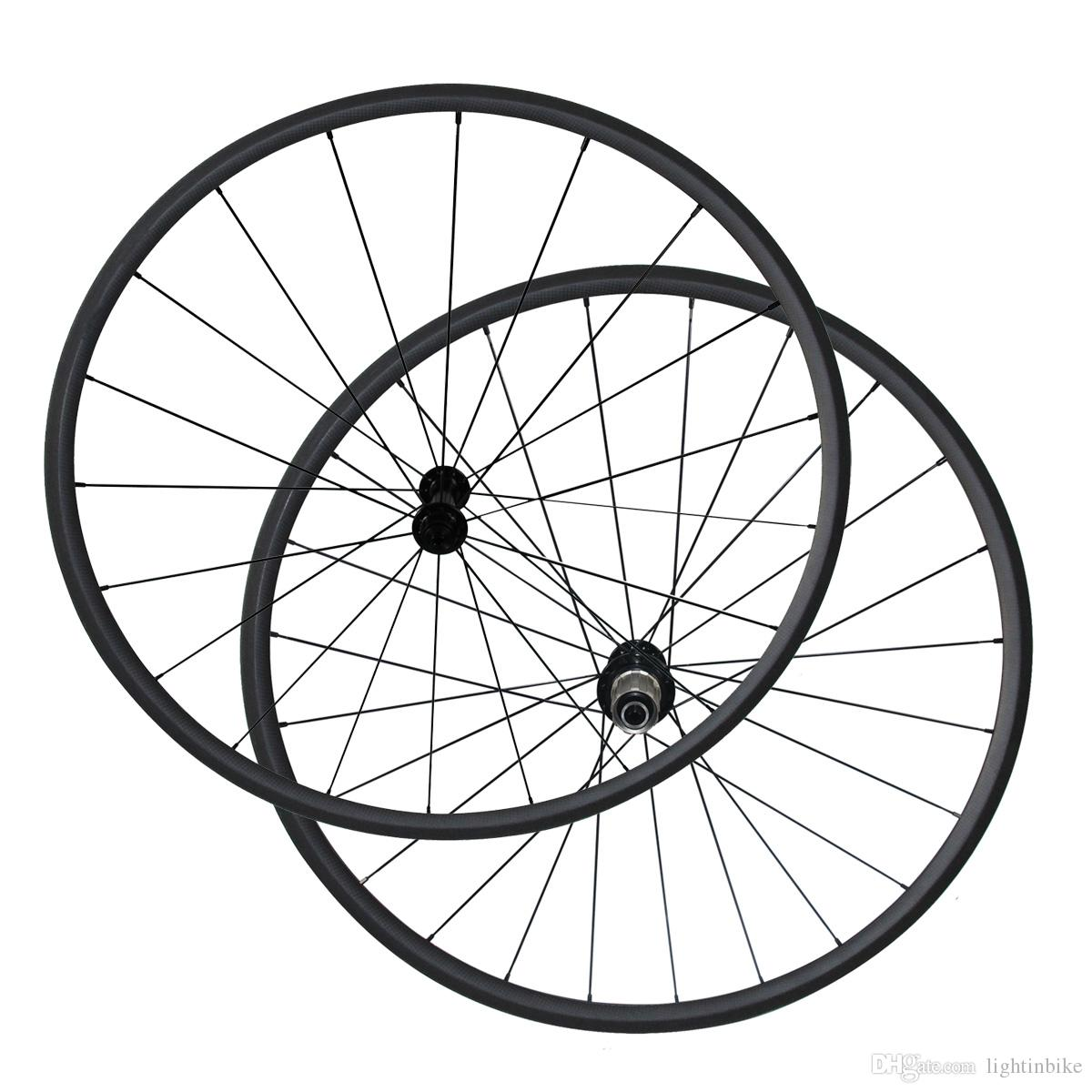 1330g Only 23mm Rim Width Carbon 24mm Clincher Bike Wheels