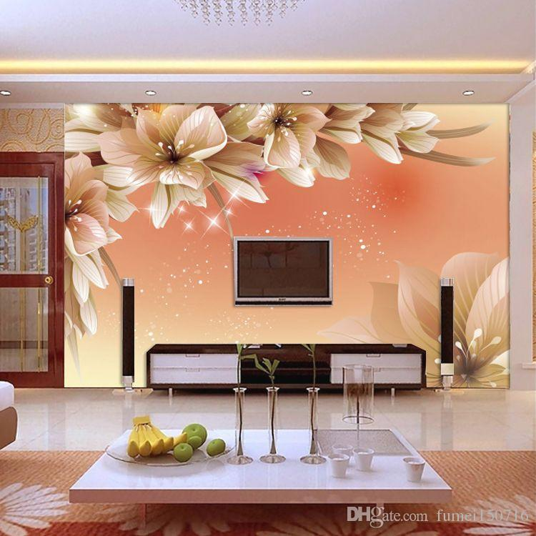 3d Wallpapers For Walls Price In Pakistan 3d Photo Wallpaper Beautiful Dream Lily Flower Tv Wall