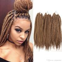 2018 Box Braids Crochet Synthetic Braiding Hair Black