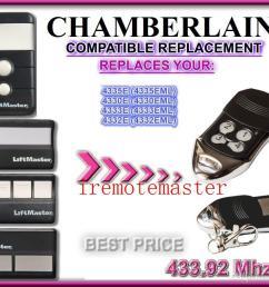 garage door remote for chamberlain 4330e 4330eml 4332e 4332eml 4333e 4333eml 4335e 4335eml replacement garage door remote lock locksmith lock opener tool  [ 1000 x 820 Pixel ]
