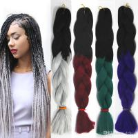 Women Xpression Braiding Hair Two Tone Crochet Synthetic
