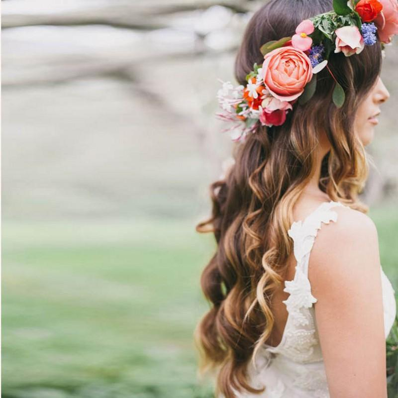 romantic bohemian wedding flower