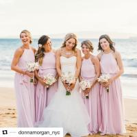 Blush Pink Summer Beach Wedding Bridesmaid Dresses A Line ...