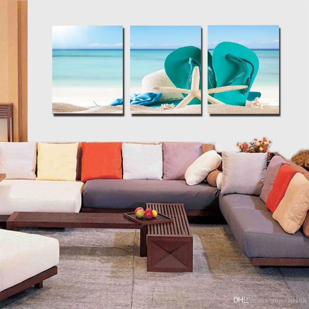 canvas beach chair exam room chairs 2019 unframed wall art oil painting on