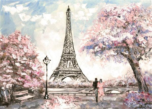 Paris Eiffel Tower Flowers