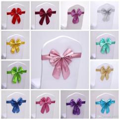 Wedding Chair Covers Hire Prices Rocking Chairs For Nursery Sashes Band Short Bowknot Seat Back Cover With Elastic Fashion Butterfly Tie Hotel Props Hot Sale 2sk Fy Personalised