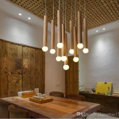 Hanging Pendant Light Living Room Simple Designs Blue Modern Country Style Led Fashion Wood Lights Lamp Verlichting Lamparas Home Lighting Double