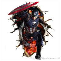 Newest Captain America Wall Decals 3d Wall Stickers For ...