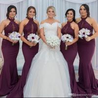 New Hot Purple Grape Mermaid Bridesmaid Dresses 2018 ...