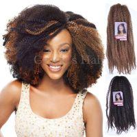 2017 Cheap Afro Kinky Marley Braiding Hair 18 Crochet ...