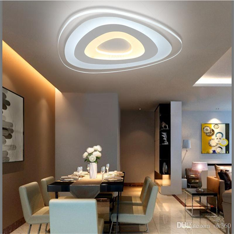 led lighting for living room top paint colors 2016 2019 ultra thin acrylic modern ceiling lights bedroom plafon home lamp fixtures from ok360