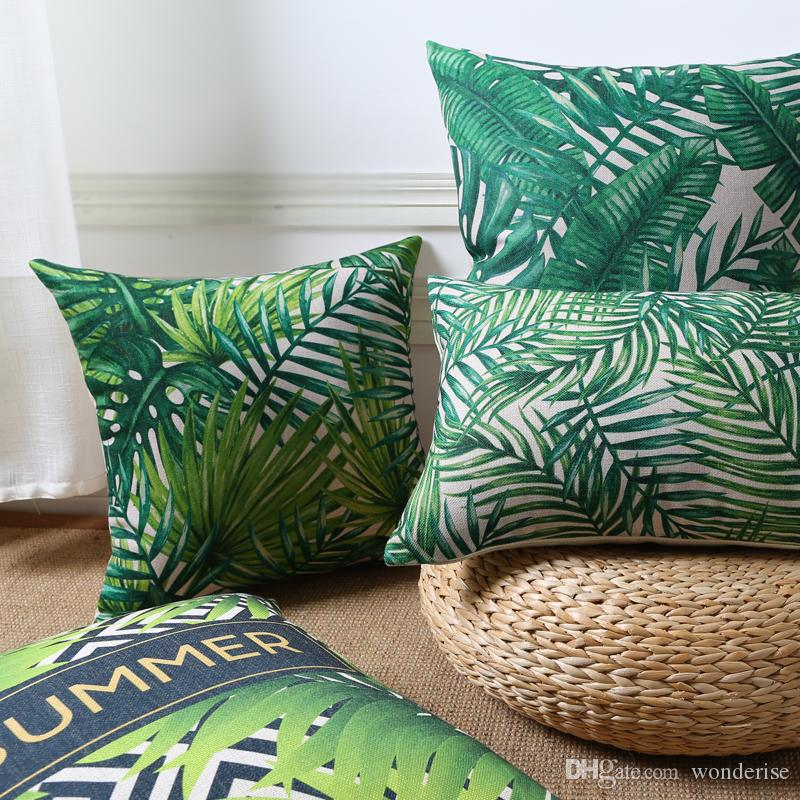 Tropical Rain Forests Plants Cushions Covers Summer Style